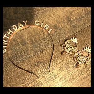 Birthday Girl Tiara & Earrings